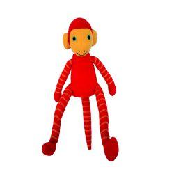 Jim de aap (rood) 25 cm