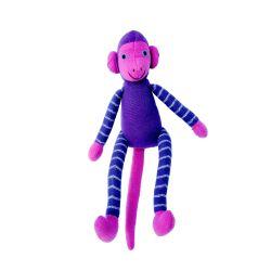 Jim de aap (paars) 25 cm