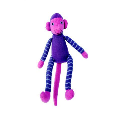 Jim le singe (mauve) 25 cm