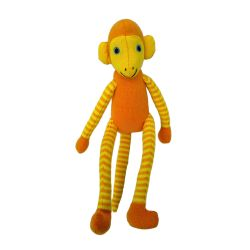 Jim de aap (oranje)  25 cm