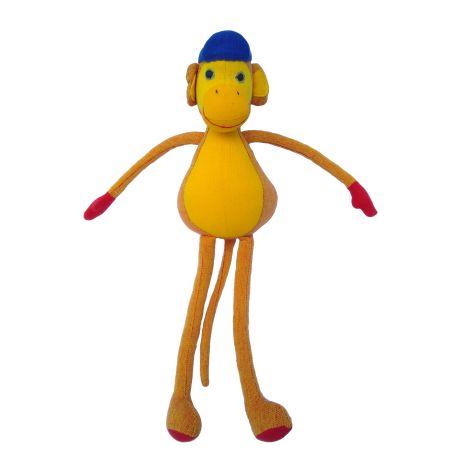 Tom le singe (jaune) 30 cm