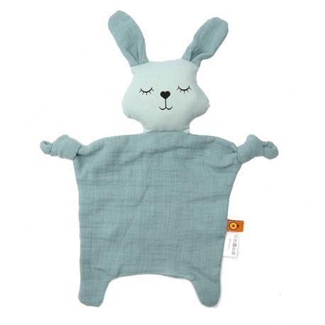 Doudou lapin coton bio GOTS