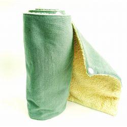 Keuken handdoek 23 x 23 cm met 2 drukknopen 6 stukken in katoen + sponzen