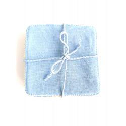 Wasbaar make-upremover doekje 6 stukken in katoen 1à x 10 cm + sponzen