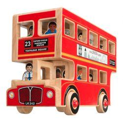 Grand bus de Londres avec passagers