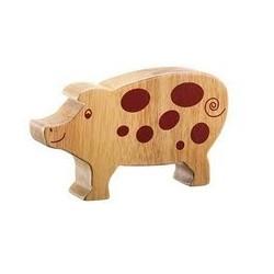 Cochon bois massif