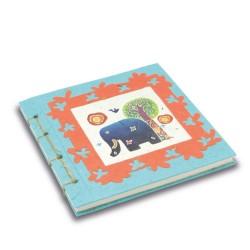 Journal relié Dessin d'artiste turquoise