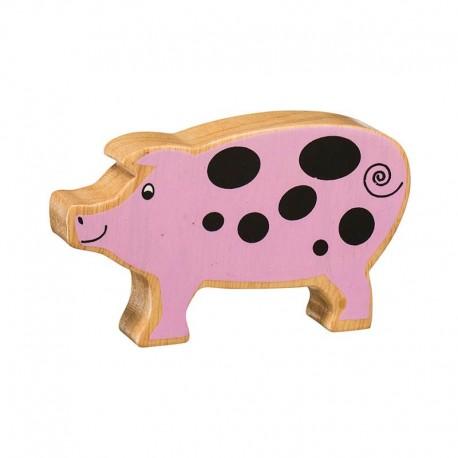 Cochon bois massif peint