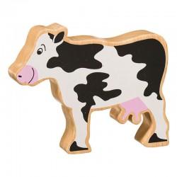 Vache bois massif peint
