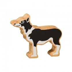 Hond massief hout, geschilderd