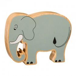 Elephant bois massif peint