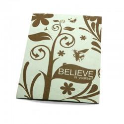 """Believe in yourself"" carte inspiration"