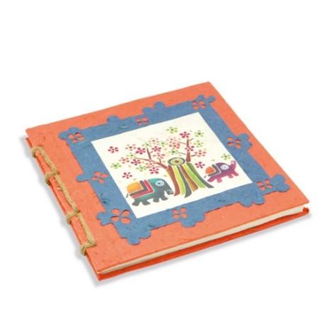 Journal relié Dessin d'artiste orange