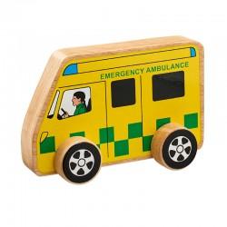 Ambulance en bois 15 cm