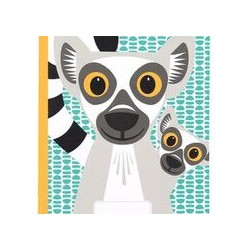 Cahier FSC motif lemurien
