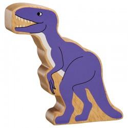 Velociraptor massief hout, geschilderd