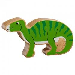 Iguanodon massief hout, geschilderd