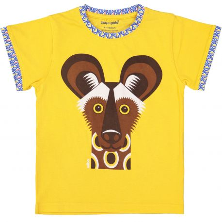 Kind T-shirt korte mouwen Afrikaanse wilde hond