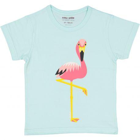Kind T-shirt korte mouwen Flamingo