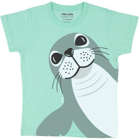 Kind T-shirt korte mouwen Zeehond
