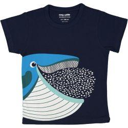 Kind T-shirt korte mouwen Blauwe vinvis