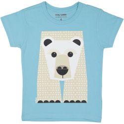Kind T-shirt korte mouwen Ijsbeer