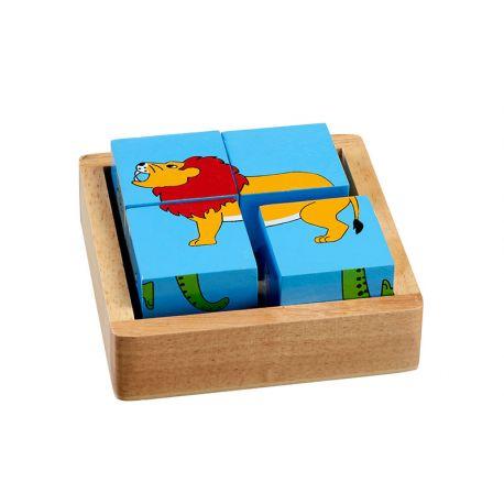 Puzzelblokken dieren van de wereld