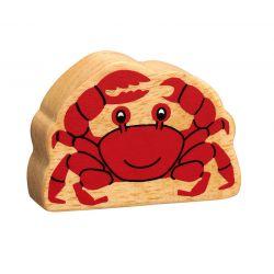 Crabe bois naturel peint