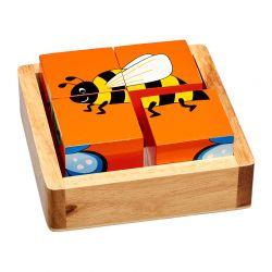 Puzzelblokken mini-beesten