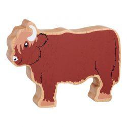 Schotse koe - Massief hout beeltje