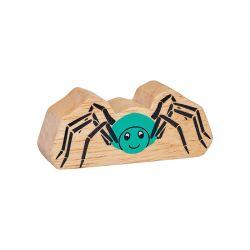 Araignée bois naturel peint