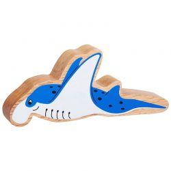 Manta ray geschilderd natuurlijk hout