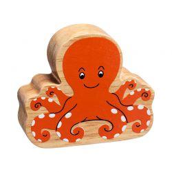 Octopus geschilderd natuurlijk hout