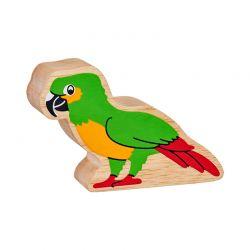 Papegaai geschilderd natuurlijk hout