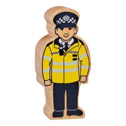 Politieman geschilderd natuurlijk houd