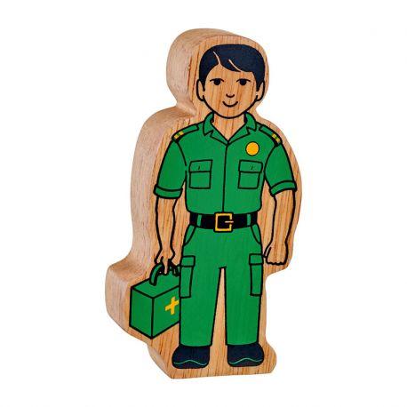 Ambulancechauffeur geschilderd natuurlijk houd