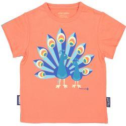 T-shirt enfant manches courtes Paon