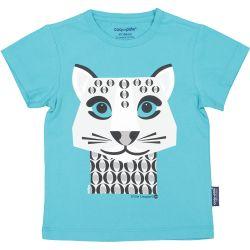 T-shirt enfant manches courtes Léopard des neiges