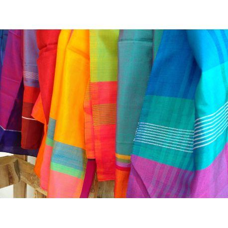 Foulard coton & soie fait à la main
