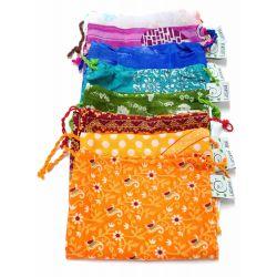 Gerecycleerde sari-herbruikbaar boodschappentas (1 sari laag)